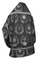 Russian Priest vestments - Nativity Star metallic brocade B (black-silver) (back), Standard design