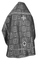 Russian Priest vestments - Floral Cross metallic brocade B (black-silver) (back), Standard design