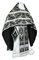 Russian Priest vestments - Vinograd metallic brocade B (black-silver), Standard design