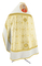 Russian Priest vestments - Corinth metallic brocade B (white-gold) with velvet inserts (back), Premium design
