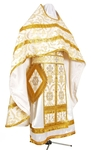 Russian Priest vestments - metallic brocade B (white-gold)