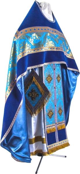 Russian Priest vestments - metallic brocade BG1 (blue-gold)