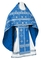 Russian Priest vestments - Rus' metallic brocade BG1 (blue-silver), Standard design
