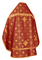 Russian Priest vestments - Rus' metallic brocade BG1 (claret-gold) (back), Standard design