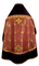 Russian Priest vestments - Theophaniya metallic brocade BG1 (claret-gold) with velvet inserts (back), Premium design
