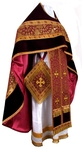 Russian Priest vestments - metallic brocade BG1 (claret-gold)