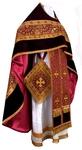 Russian Priest vestments - metallic brocade BG1 (claret-gold)