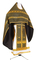 Russian Priest vestments - Small Cross metallic brocade BG1 (black-gold), Standard design