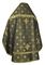 Russian Priest vestments - Rus' metallic brocade BG1 (black-gold) (back), Standard design