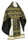 Russian Priest vestments - Rus' metallic brocade BG1 (black-gold), Standard design