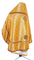 Russian Priest vestments - Yaroslavl' metallic brocade BG1 (yellow-claret-gold) back, Premium cross design