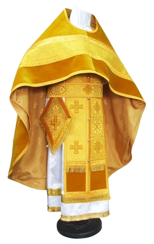 Russian Priest vestments - metallic brocade BG1 (yellow-gold)