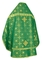 Russian Priest vestments - Rus' metallic brocade BG1 (green-gold) (back), Standard design