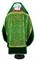 Russian Priest vestments - Theophaniya metallic brocade BG1 (green-gold) with velvet inserts (back), Standard design
