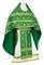 Russian Priest vestments - Rus' metallic brocade BG1 (green-gold), Standard design