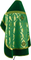Russian Priest vestments - Thebroniya metallic brocade BG1 (green-gold) back, Premium cross design