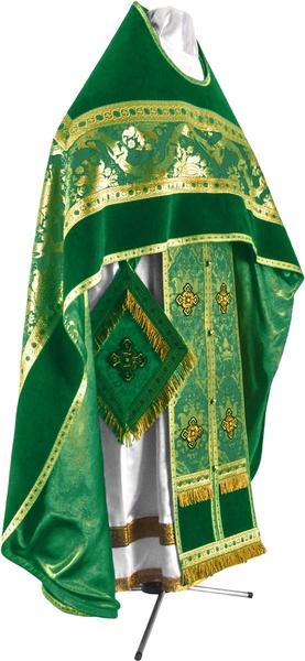Russian Priest vestments - metallic brocade BG1 (green-gold)