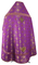 Russian Priest vestments - Mirgorod metallic brocade BG1 (violet-gold) back, Premium design