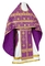 Russian Priest vestments - Rus' metallic brocade BG1 (violet-gold), Standard design