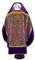Russian Priest vestments - Theophania metallic brocade BG1 (violet-gold) back, Standard design  (with velvet inserts and embroidered icon)