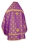Russian Priest vestments - Rus' metallic brocade BG1 (violet-gold) (back), Standard design