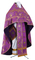 Russian Priest vestments - Mirgorod metallic brocade BG1 (violet-gold), Premium design