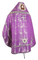 Russian Priest vestments - Theophaniya metallic brocade BG1 (violet-silver) back, Standard design