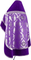Russian Priest vestments - Royal Crown metallic brocade B (violet-silver) with velvet inserts (back), Standard design