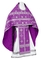 Russian Priest vestments - Rus' metallic brocade BG1 (violet-silver), Standard design