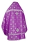 Russian Priest vestments - Rus' metallic brocade BG1 (violet-silver) (back), Standard design