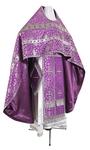 Russian Priest vestments - metallic brocade BG1 (violet-silver)