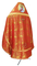 Russian Priest vestments - Theophaniya metallic brocade BG1 (red-gold) back, Premium design