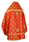 Russian Priest vestments - Rus' metallic brocade BG1 (red-gold) (back), Standard design