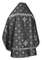 Russian Priest vestments - Rus' metallic brocade BG1 (black-silver) (back), Standard design