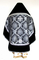 Russian Priest vestments - Royal Crown metallic brocade BG1 (black-silver) with velvet inserts (back), Premium design