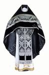 Russian Priest vestments - metallic brocade BG1 (black-silver)