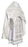 Russian Priest vestments - metallic brocade BG1 (white-silver)