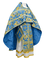 Russian Priest vestments - Paradise Garden metallic brocade BG2 (blue-gold), Premium design