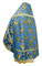 Russian Priest vestments - Paradise Garden metallic brocade BG2 (blue-gold) back, Premium design