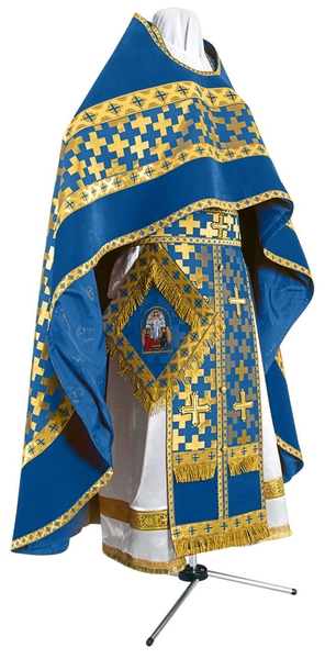 Russian Priest vestments - metallic brocade BG2 (blue-gold)