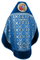 Russian Priest vestments - Nativity metallic brocade BG2 (blue-silver) with velvet inserts (back), Standard design