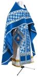 Russian Priest vestments - metallic brocade BG2 (blue-silver)