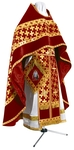 Russian Priest vestments - metallic brocade BG2 (claret-gold)