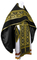 Russian Priest vestments - Nativity metallic brocade BG2 (black-gold) with velvet inserts, Standard design