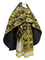 Russian Priest vestments - Paradise Garden metallic brocade BG2 (black-gold), Premium design