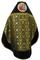 Russian Priest vestments - Nativity metallic brocade BG2 (black-gold) with velvet inserts (back), Standard design