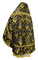 Russian Priest vestments - Paradise Garden metallic brocade BG2 (black-gold) back, Premium design