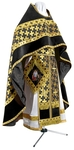 Russian Priest vestments - metallic brocade BG2 (black-gold)