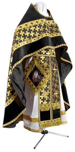 Russian Priest vestments - metallic brocade BG2 (black-gold)