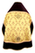 Russian Priest vestments - Repka metallic brocade BG2 (yellow-claret-gold) with velvet inserts (back), Standard design